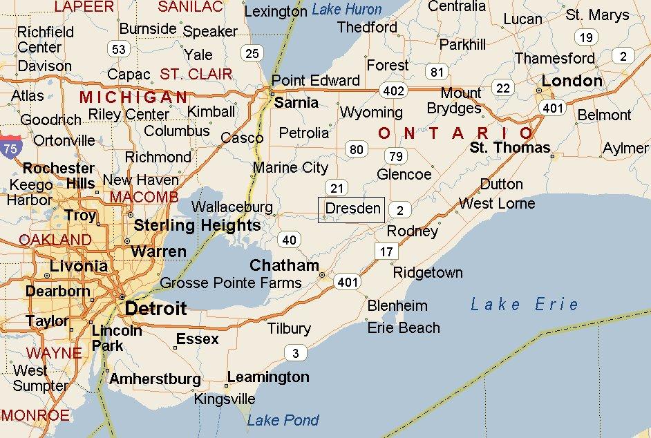 Dresden Ontario Map