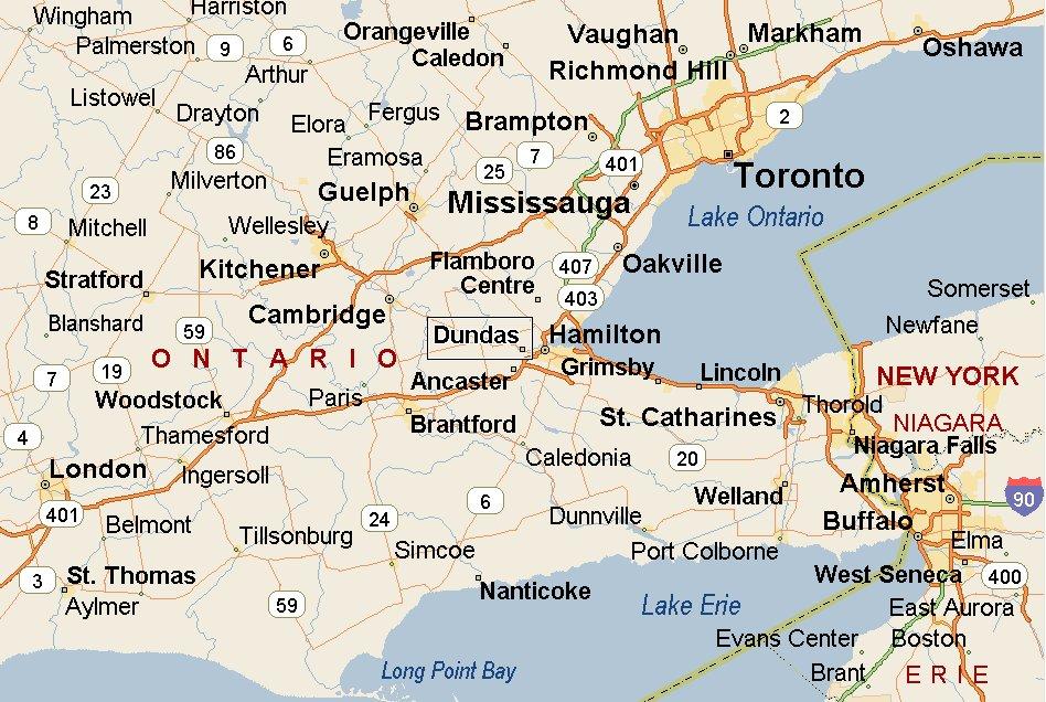 Dundas Ontario Map