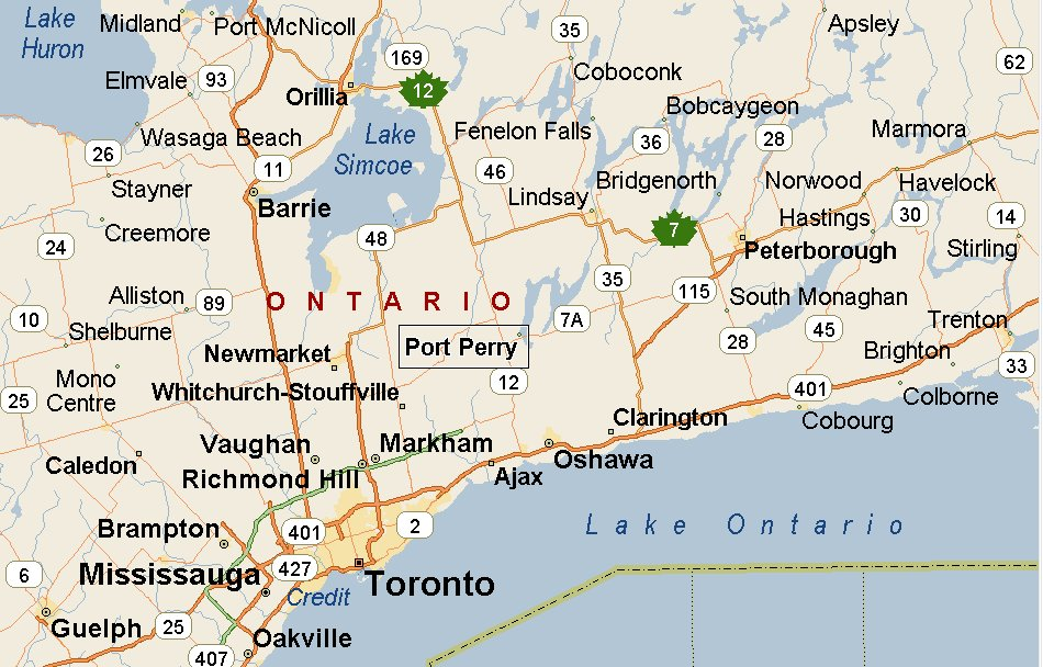Map Port Perry